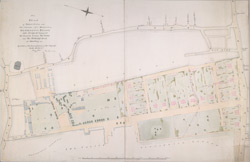 Plan of Palace Green and other grounds, &c westwards of Kensington Palace, with design for laying out the grounds between the green and the Uxbridge Road for building on